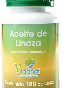 Aceite de linaza 180 c psulas vidanat vida salud - Precio aceite de linaza ...