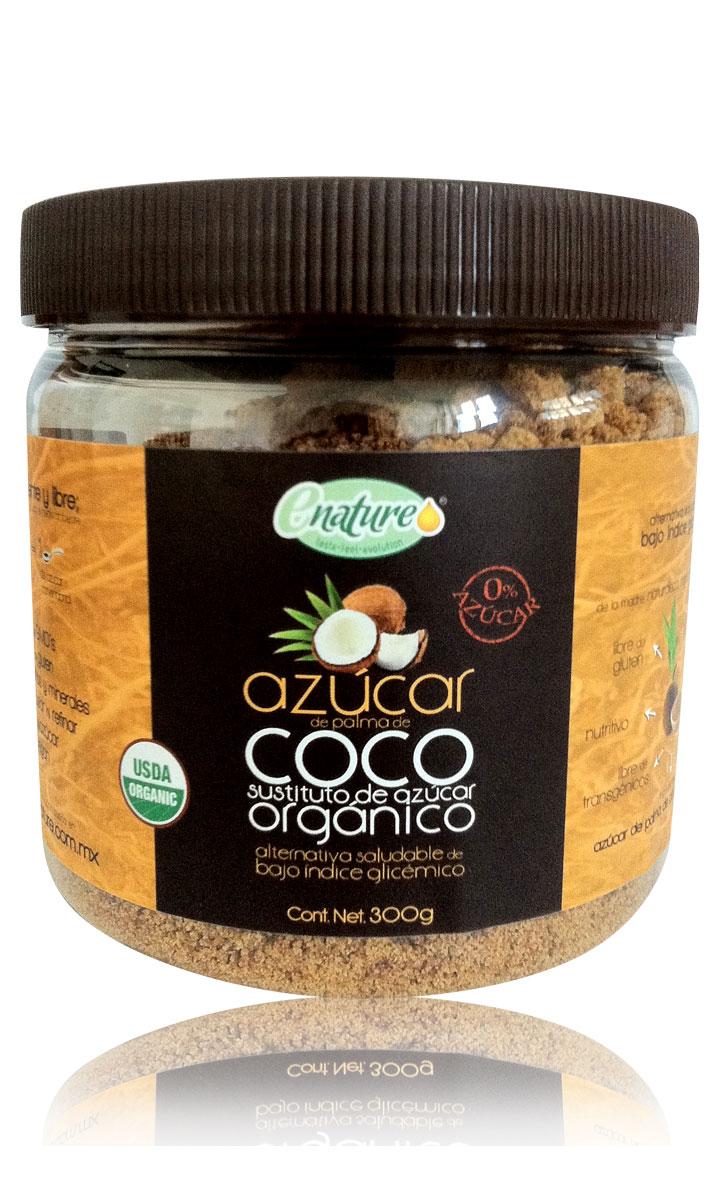 Azúcar de coco sin gluten 300g E-nature - Vida Salud